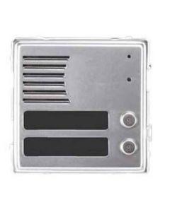 Modulo pulsantiera esterno in alluminio 2 tasti 1 modulo Sinthesi Urmet 1148/22