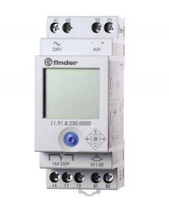 Relè crepuscolare con interruttore orario finder 119182300000