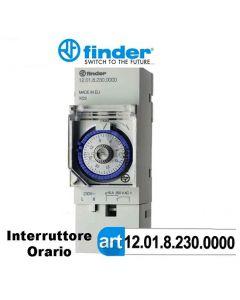 Interruttore orario orologio giornaliero 2 moduli Din 1201 FINDER 12018230