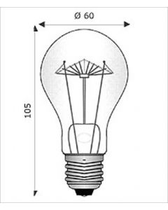 Lamp.inc.goccia chiara 100w e27 12v