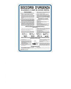 Cartello soccorsi d'urgenza 350x500mm