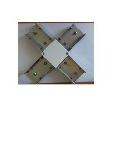 """Accoppiatore """"x""""in pressofusione di alluminio"""