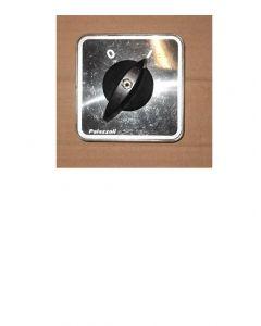 Manopola nera c/mostrina alluminio + protezione trasp.ip54 x