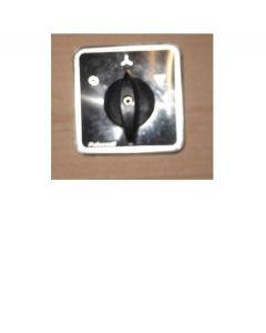 Manopola nera c/mostrina alluminio + protezione trasp.ip654