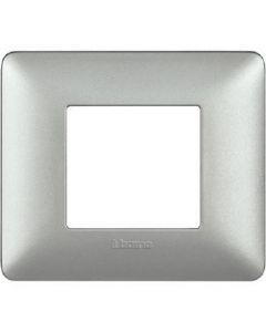 Placca 2 Moduli Silver
