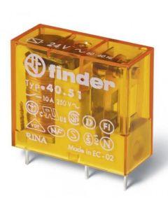 Minirele' per circuito stampato o innesto su zoccolo 12VAC 1 scambio 10A FINDER 403180120000