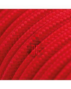 Cavo elettrico tondo 3 fili rivestito in cotone rosso AX605