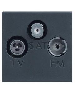 PRESA TV DERIVATA TV-RD-SAT 2 MODULI VELA SCURA LEGRAND 682783