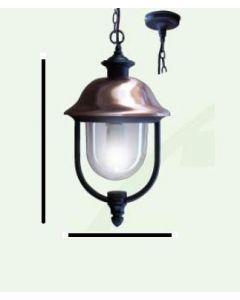 Lanterna con cappello ramato modello imma fissaggio con catena alimentazione 220v