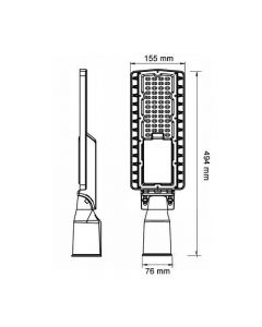 ARMATURA STRADALE LED 60W IP66 LUCE FREDDA 5700K