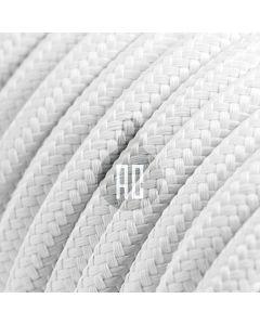 Cavo elettrico tondo 3 fili rivestito in cotone bianco AX601
