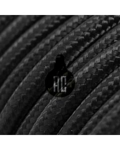 Cavo elettrico tondo 3 fili rivestito in cotone nero AX610