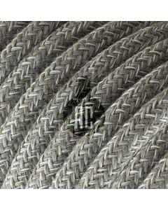 Cavo elettrico tondo 3 fili rivestito in cotone canvas grigio AX648