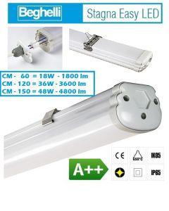 PLAFONIERA STAGNA LED 48W IP65 CM 150 LUCE FREDDA 6500K