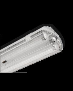 PLAFONIERA STAGNA 2X58 IP65 CM 150 VUOTA PER TUBI LED 220V BEGHELLI 72005ST