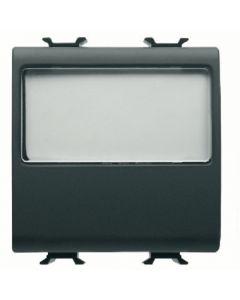 Pulsante con targa portanome illuminabile 10a nera GEWISS 12191