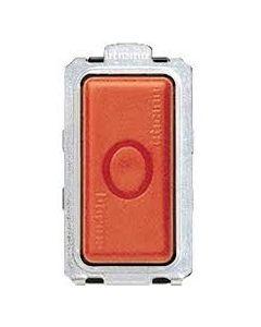Pulsante unipolare 16a nc (arresto) rosso magic 5014