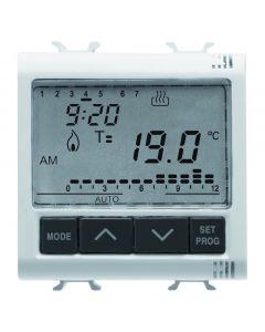 Cronotermostato incasso giornaliero settimanale 2 moduli 230v GEWISS GW10703