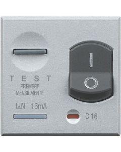 Interruttore magnetotermico differenziale 1P+N 16A 10mA Axolute chiara BTICINO HC4305/16