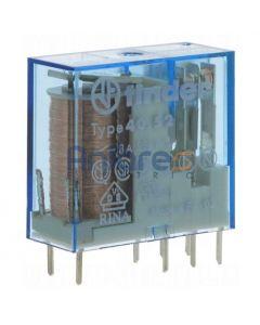 Mini rele'per circuito stampato 12vdc 2scambi 8a FINDER 405290120000
