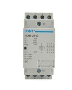 Contattore modulare 25A 4NA 230V AC 2 Moduli