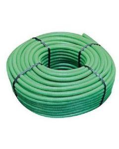 Tubo flessibile d.25 verde con sonda tirafilo