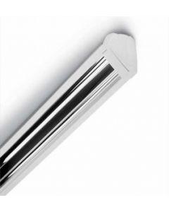 Plafoniera luce diretta o indiretta 2x24w attacco g5 colore grigio silver,da completare con il supporto a parete a110gr