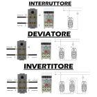 Interruttore , Deviatore , Invertitore , Pulsante compatibile Bticino Matix 4 in 1